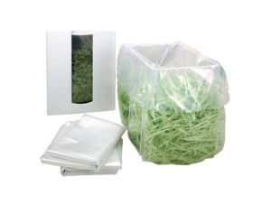 HSM Plastikbeutel, 100er Pack für B22, B24, AF150, AF300, 104.3, 105.3, 108.2, Pure 420