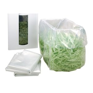 HSM Plastikbeutel, 100er Pack für B35, P36, P40, 390.3/.2/.1, 411.2/.1, 412.2, Pure 630, 740, 830
