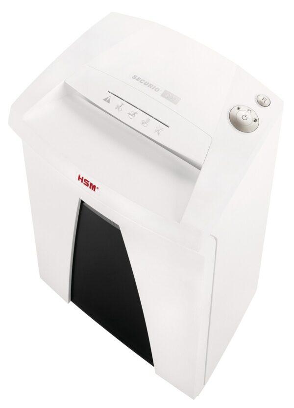 Aktenvernichter HSM Securio B24   Partikelschnitt 0,78 x 11 mm, mit integriertem Öler