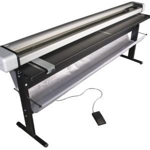 Neolt Electro Trim 200 Rollenschneider mit LED-Beleuchtung, Untergestell und Abfallsammelanlage