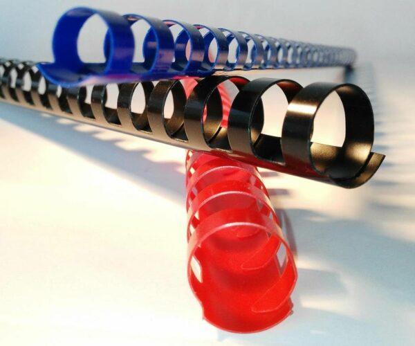 Plastikbinderücken 8 mm, 100 Stück