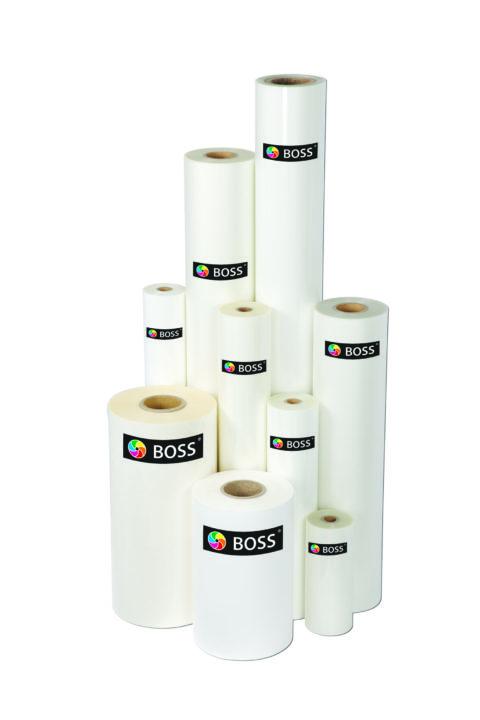 Cellophanierfolie Boss Printable 445 mm glänzend, 1000 lfm